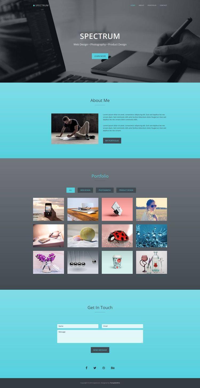 Portfolio Website Templates Bootstrap Free
