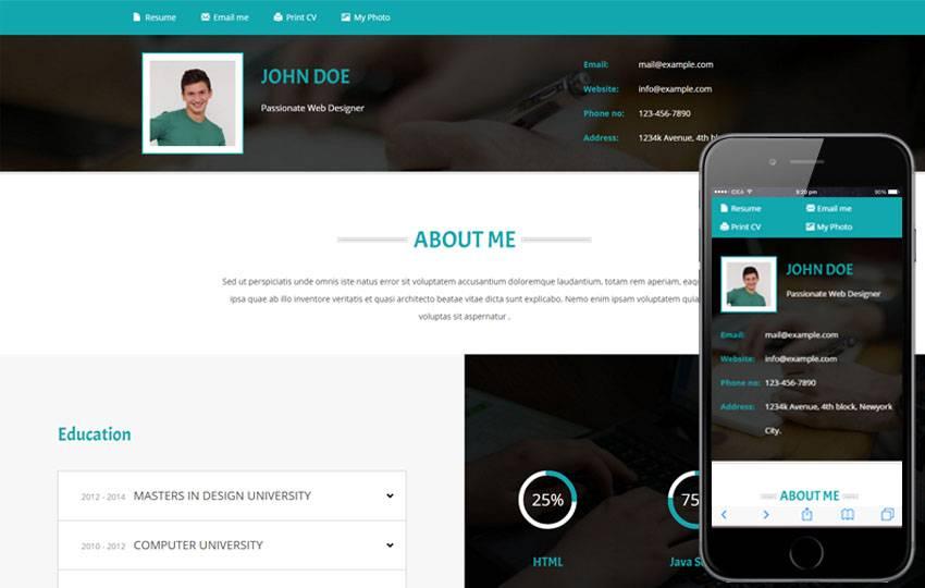 Portfolio Website Templates Free Bootstrap