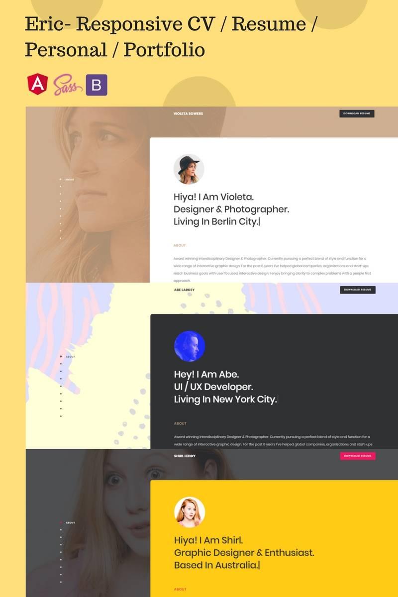 Portfolio Website Templates Responsive