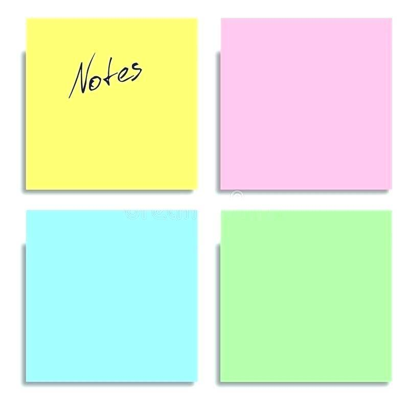 Post It Note Sticky Note Printing Template