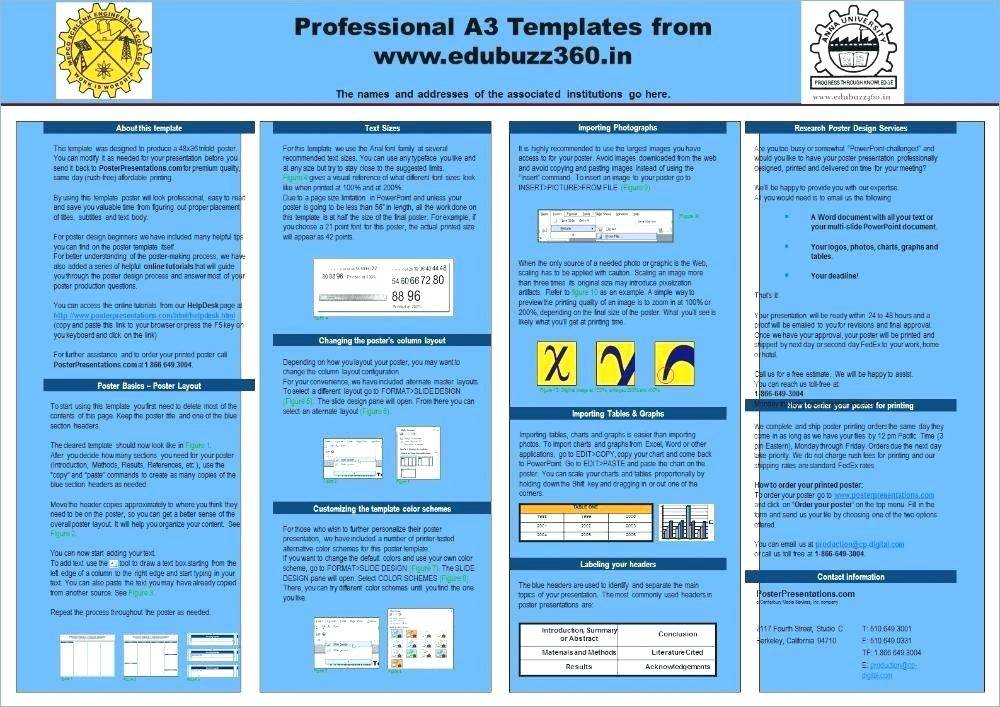 Poster Presentation Template A3 Size Download