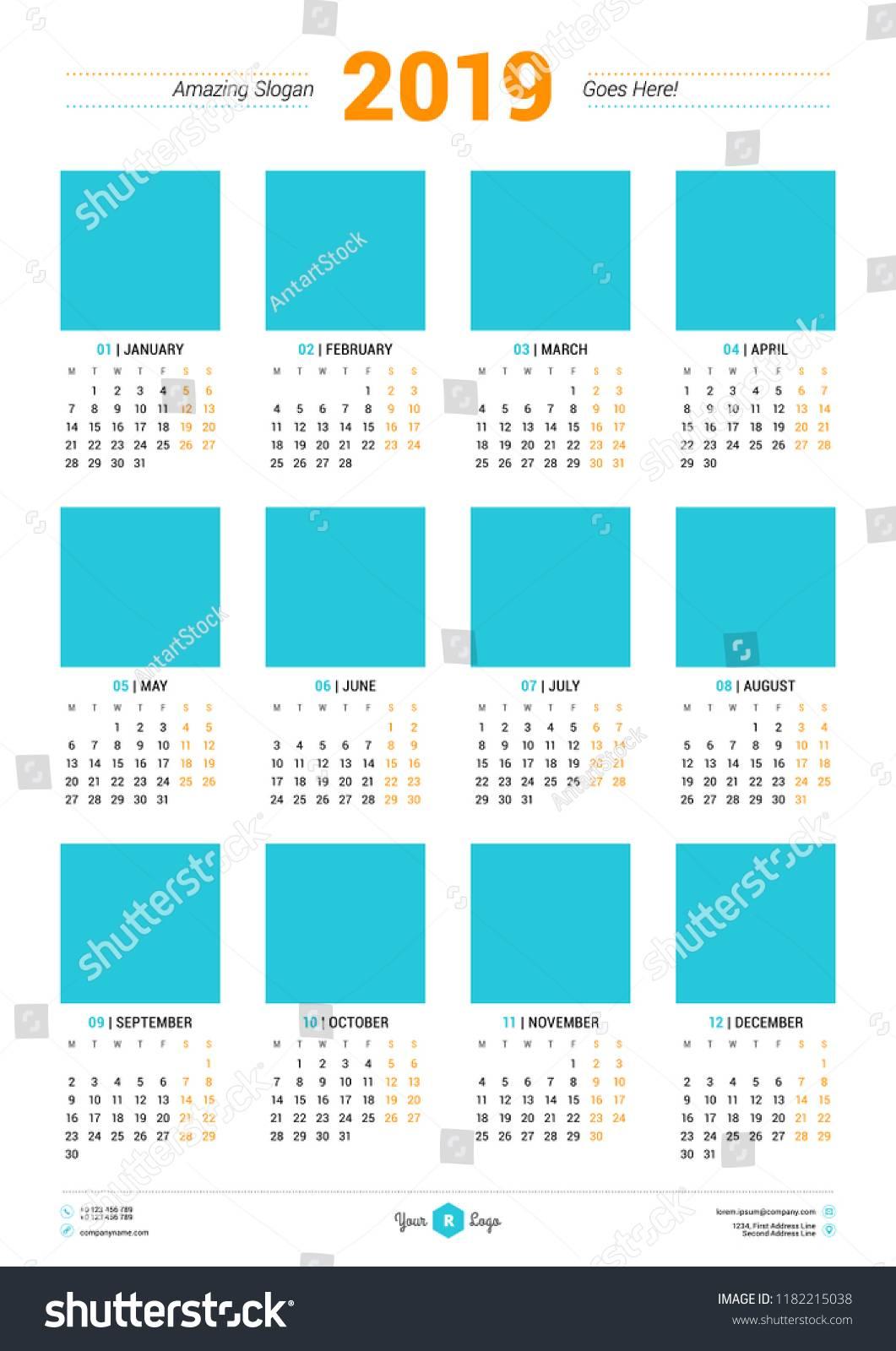 Poster Size Calendar Template