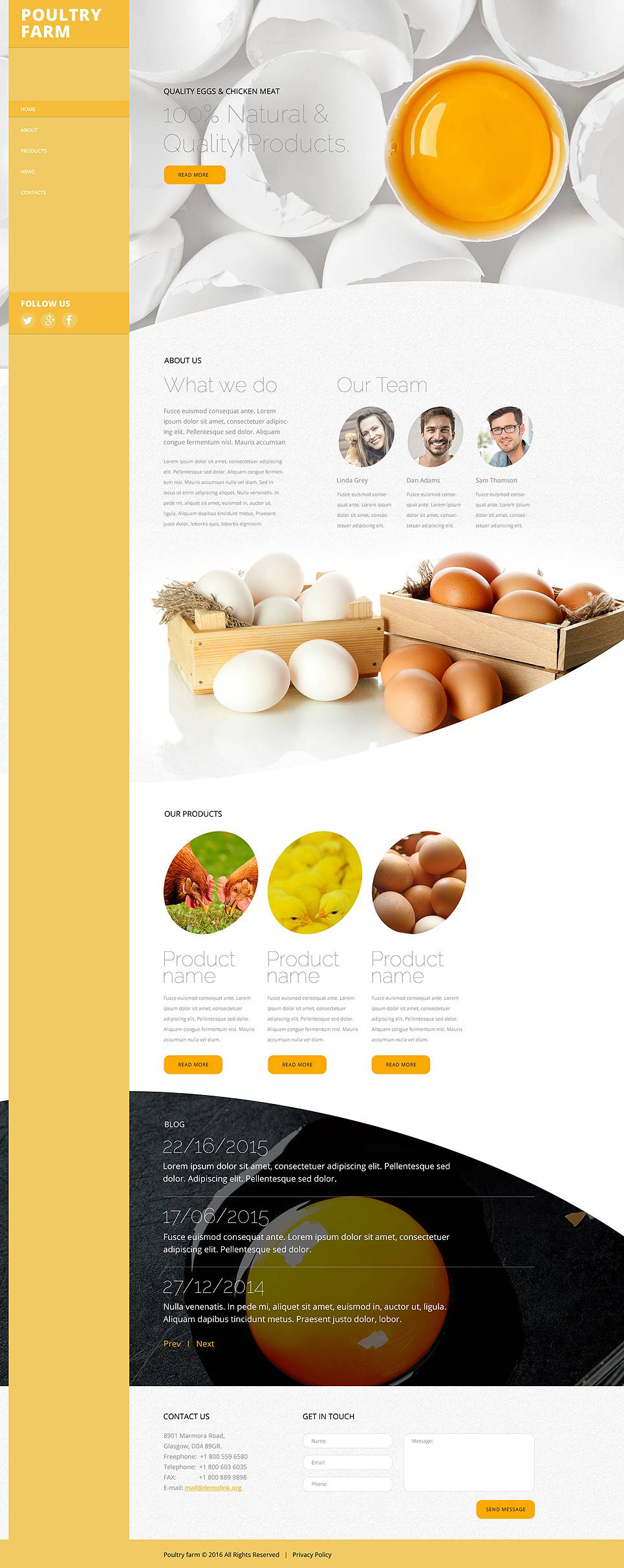 Poultry Website Templates Free Download