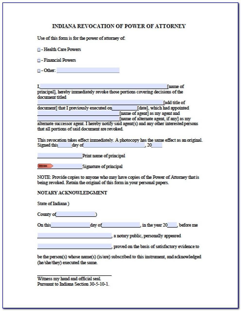 Power Attorney Form California