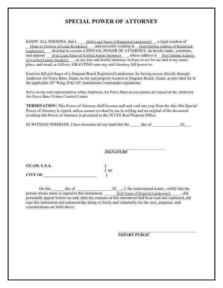 Power Of Attorney Word Document