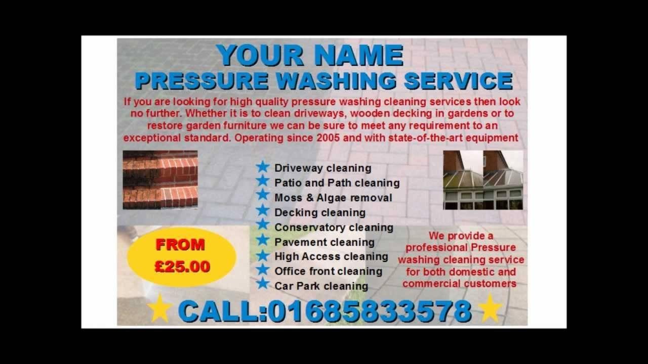 Power Washing Flyer Templates