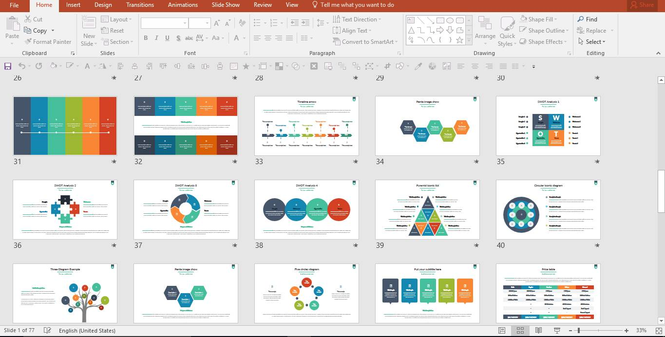 Powerpoint Create Master Slide Template