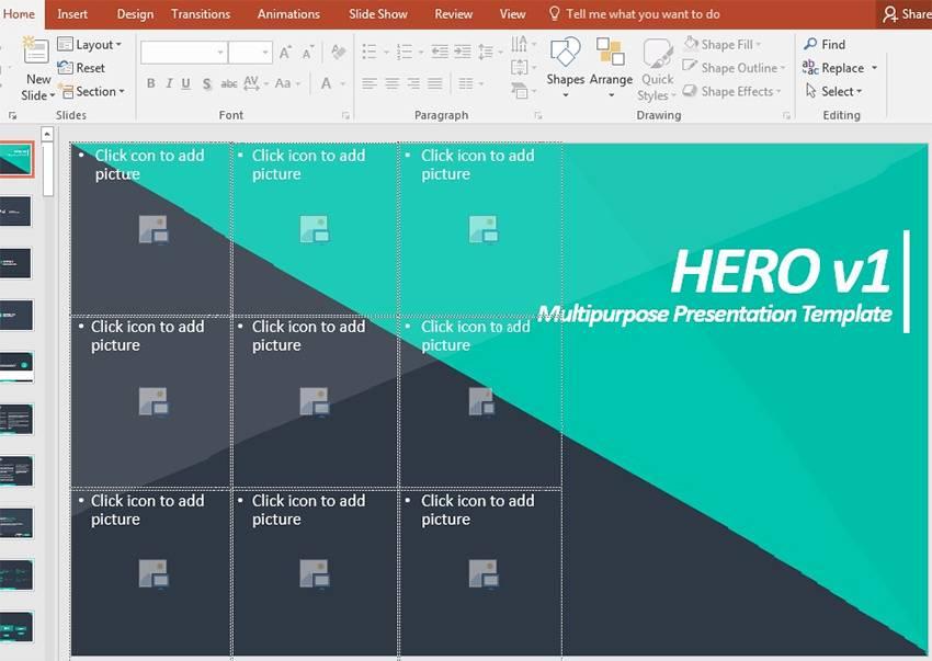 Powerpoint Edit Slide Template