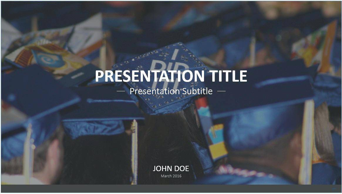 Powerpoint Graduation Slideshow Templates
