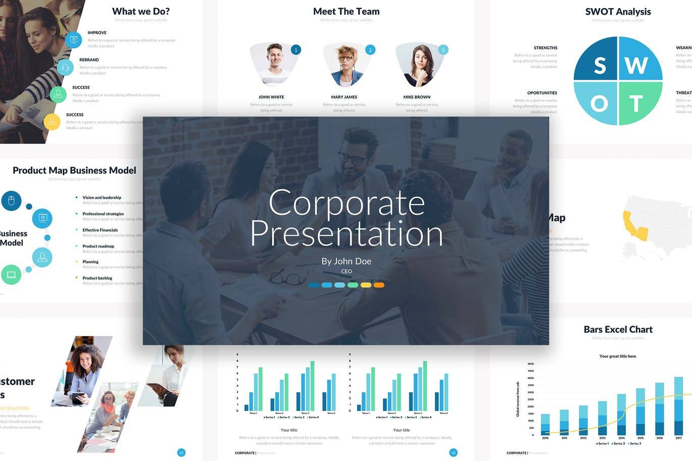 Powerpoint Graphics Templates For Ceos