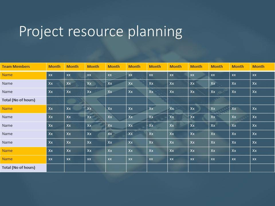 Powerpoint Project Planning Template
