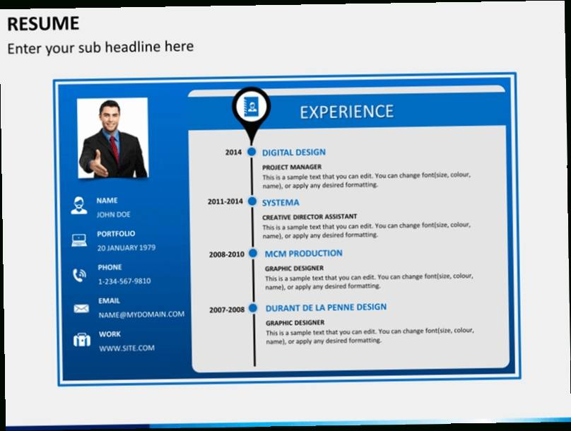 Powerpoint Resume Templates Download