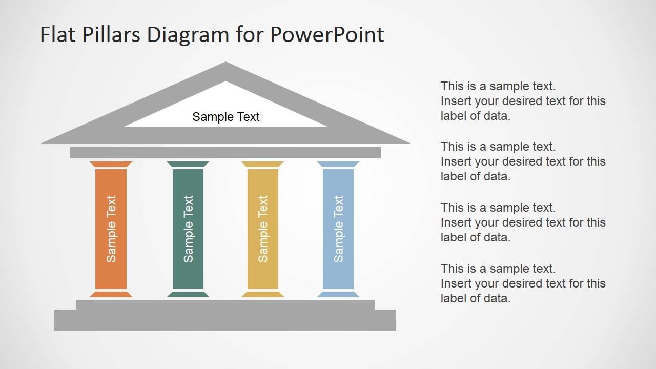Powerpoint Slide Template Pillars