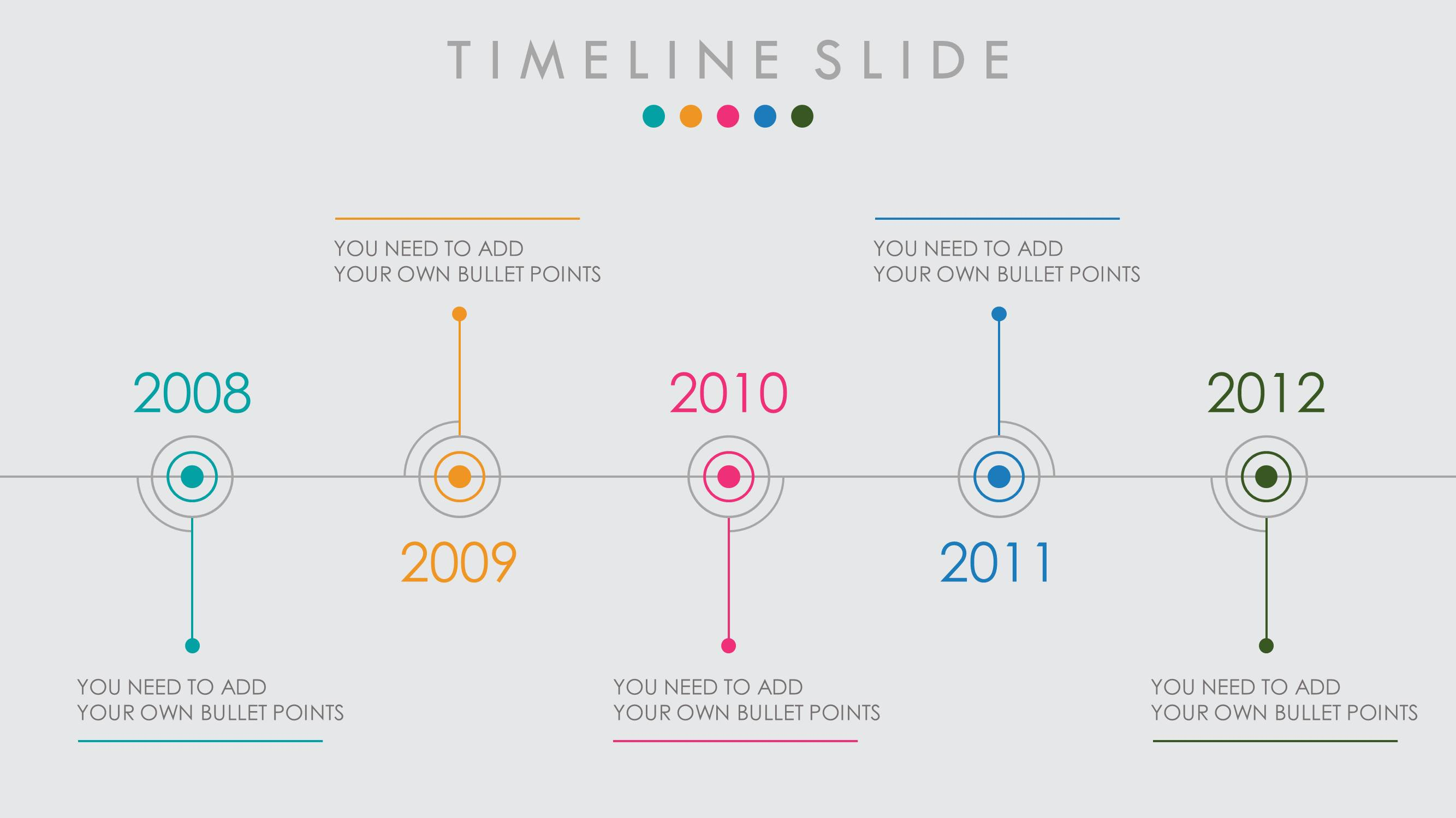 Powerpoint Slide Template Timeline
