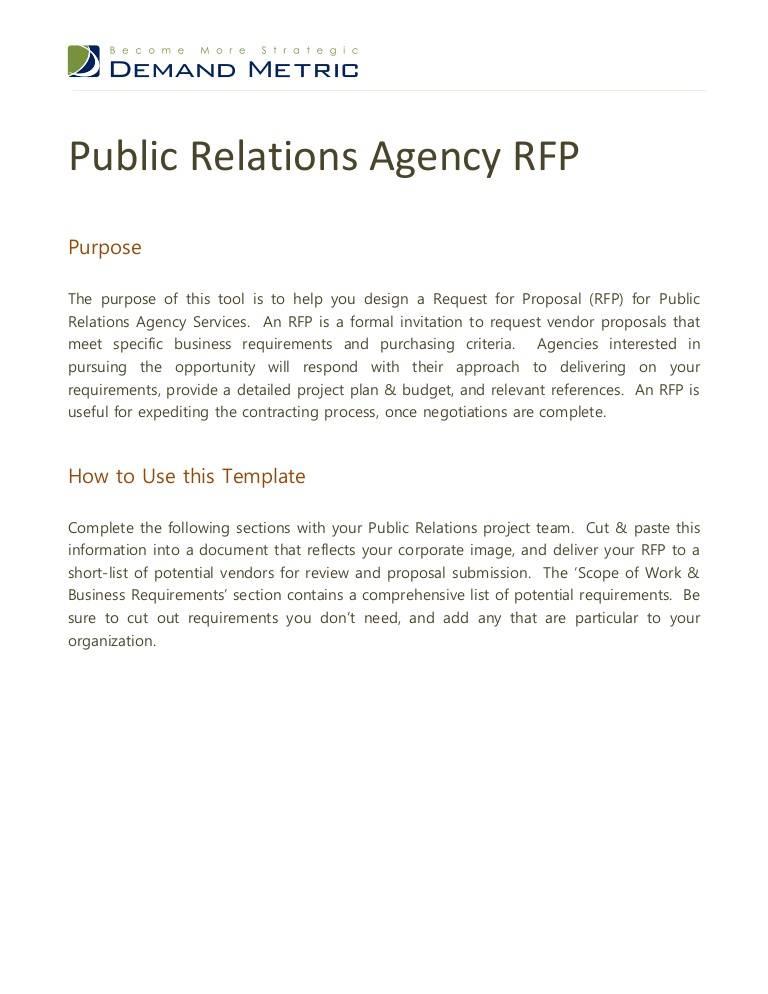 Pr Rfp Examples