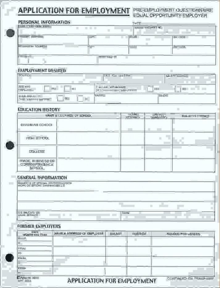 Pre Employment Screening Questionnaire Template