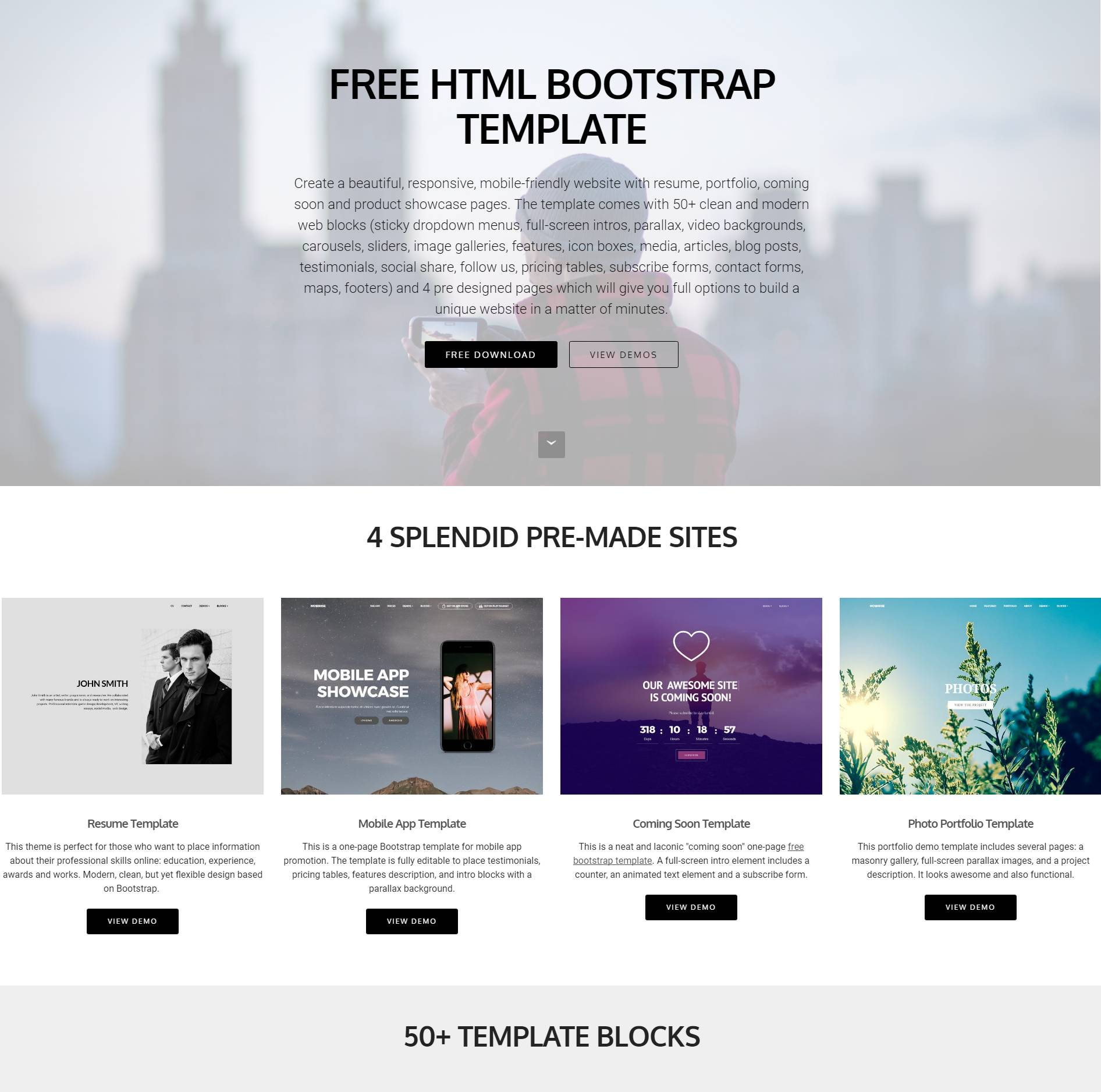 Pre Made Websites Templates Free