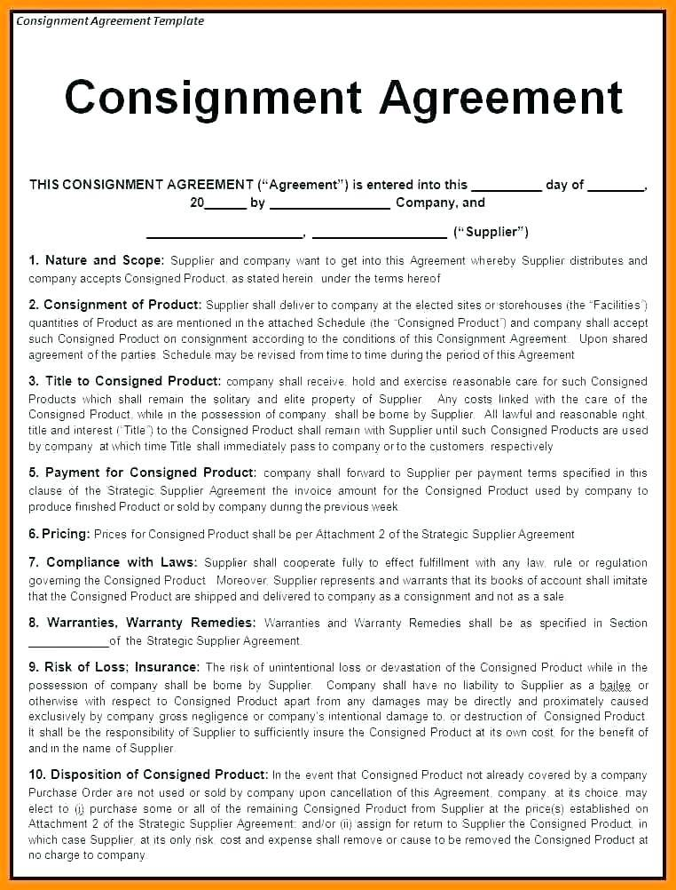 Preferred Supplier Agreement Template Uk
