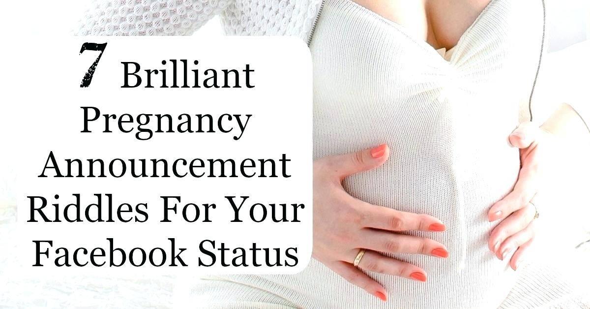 Pregnancy Announcement Templates For Facebook