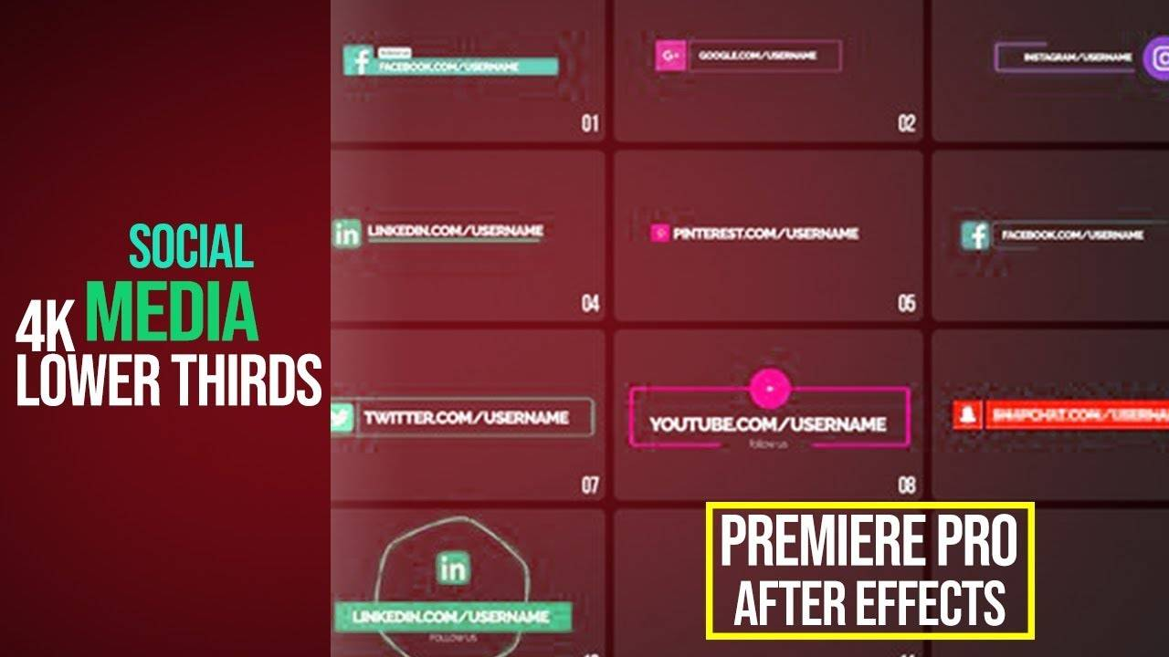 Premiere Pro Lower Thirds Templates Free