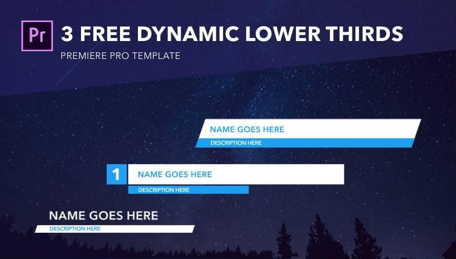 Premiere Pro Lower Thirds Templates