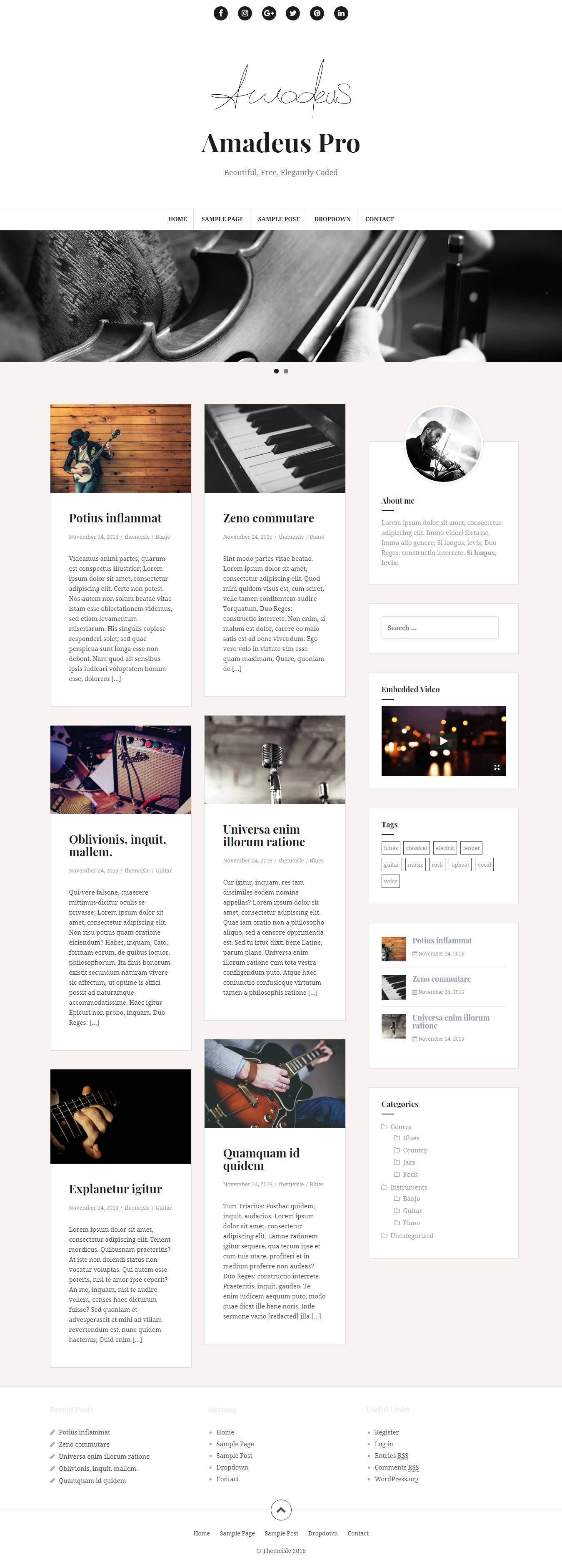 Premium Blog Templates WordPress
