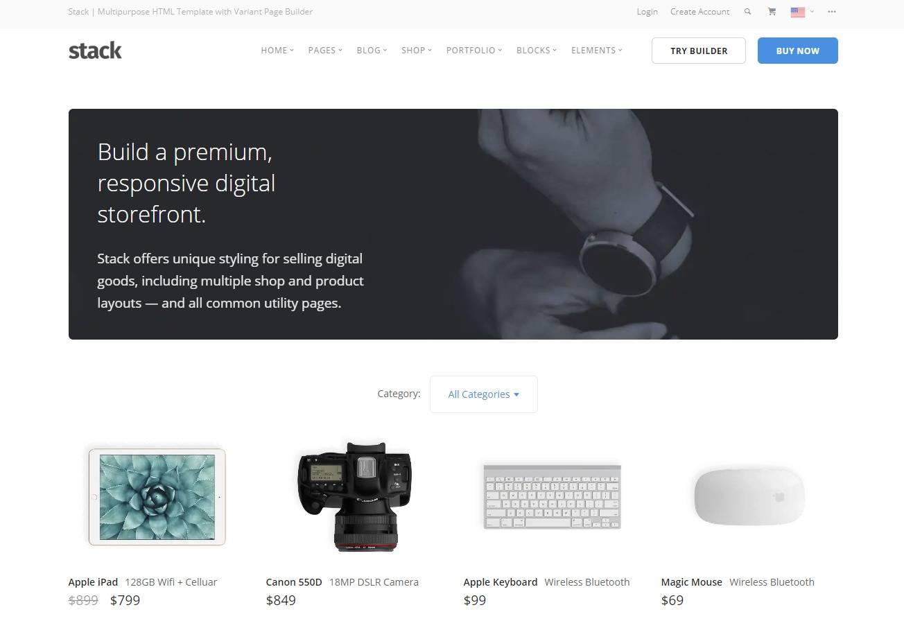 Premium Ecommerce Website Templates