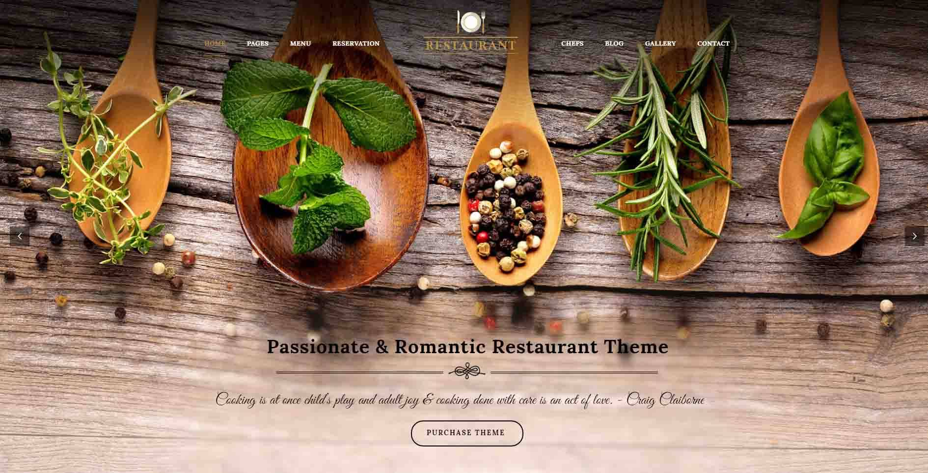Premium WordPress Themes For Restaurants