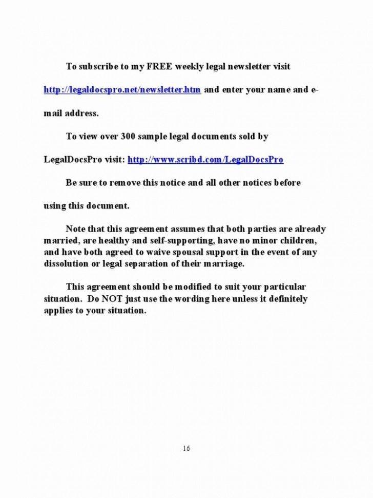 Prenuptial Agreement California Template