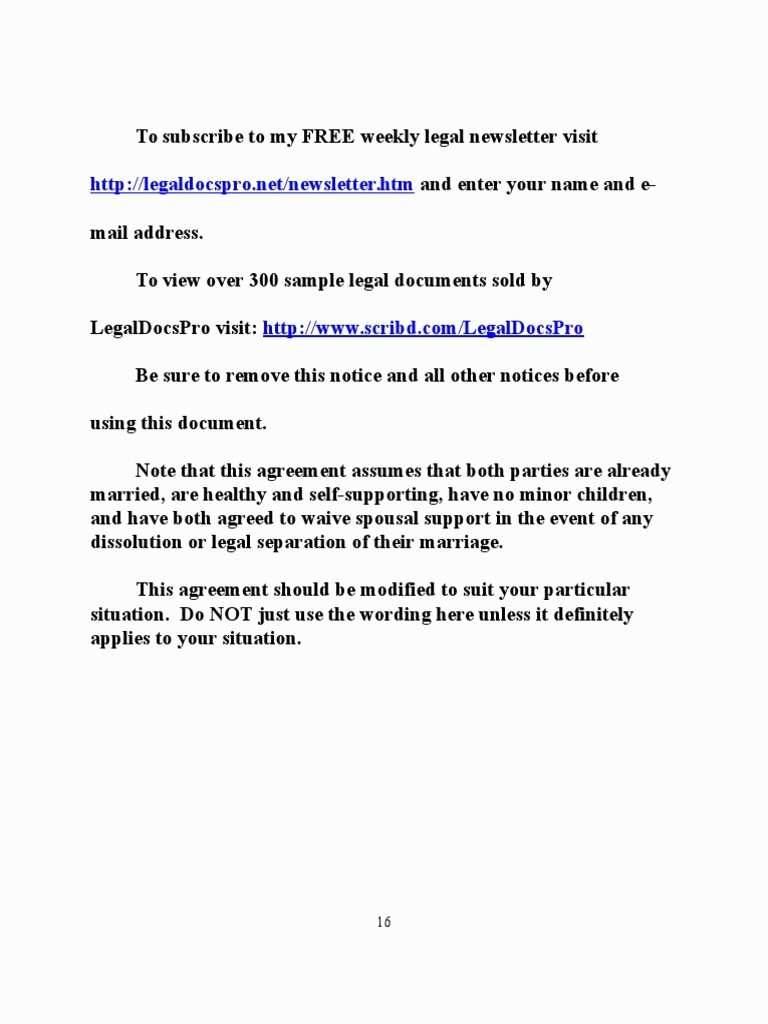 Prenuptial Agreement Template Ny