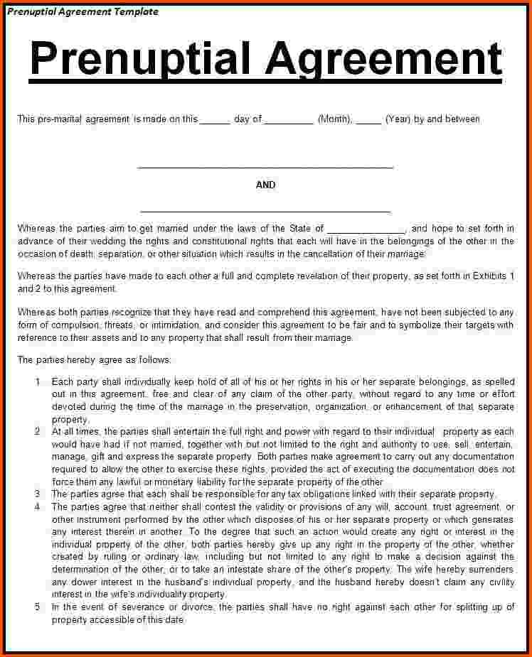 Prenuptial Agreement Template Scotland
