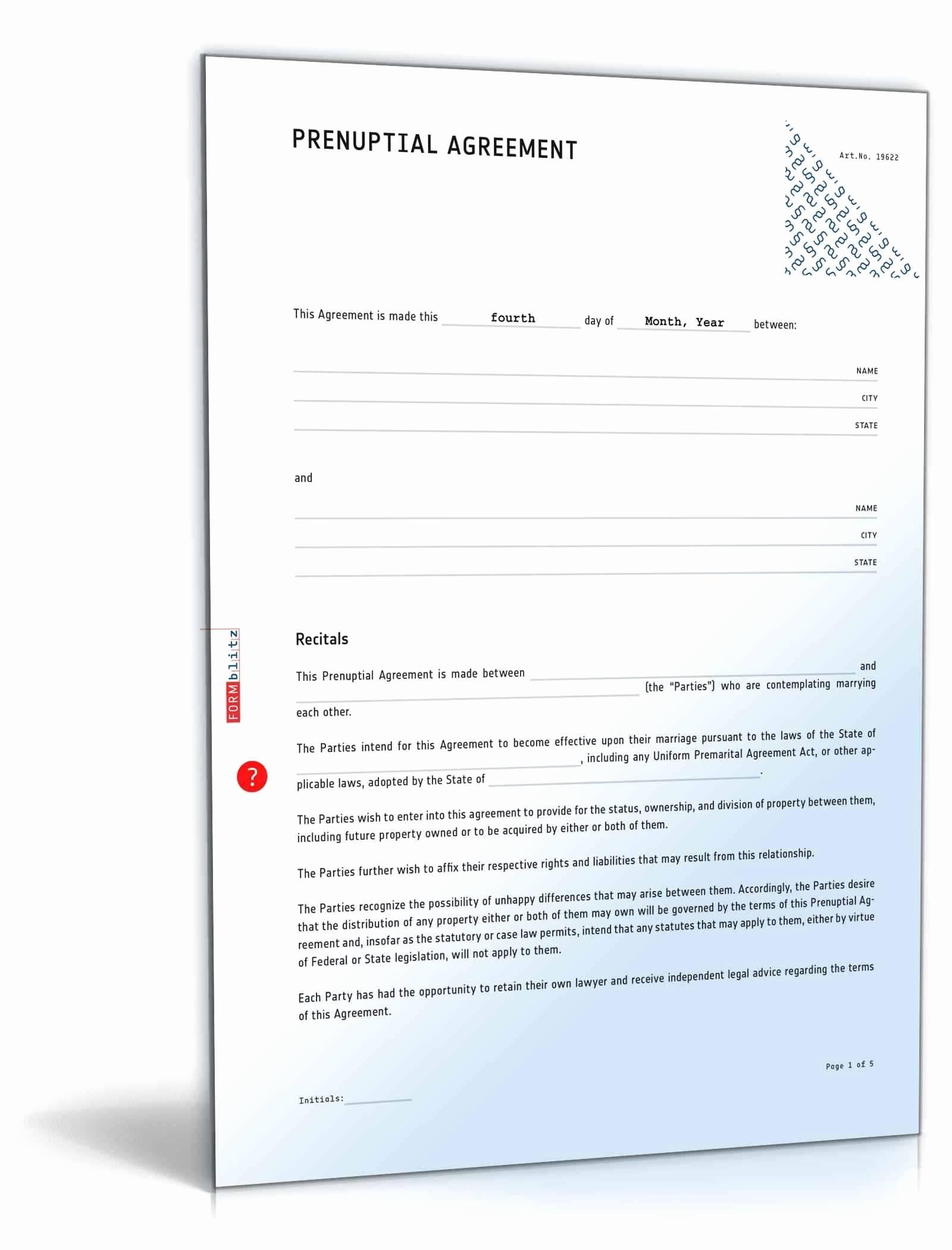 Prenuptial Agreements Sample