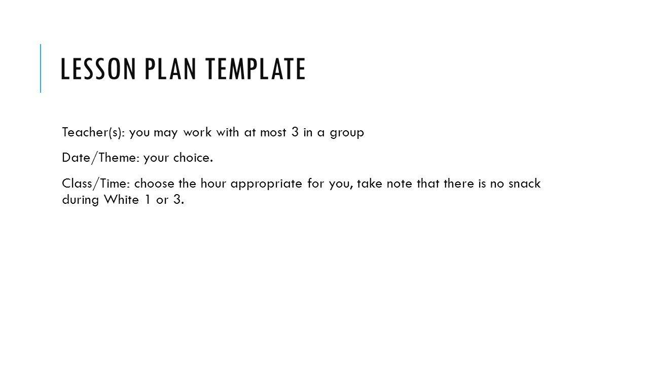 Preschool Agenda Template