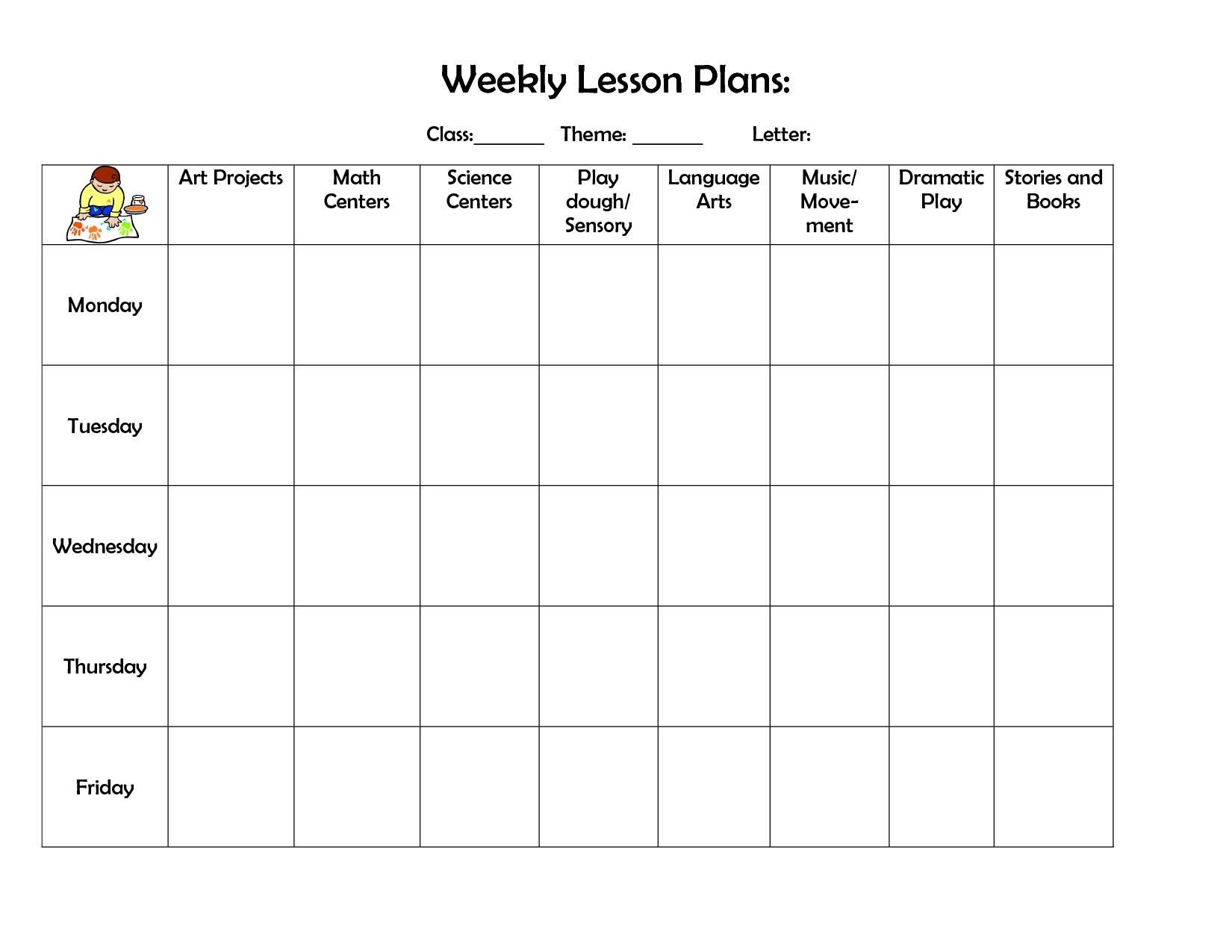 Preschool Planner Template