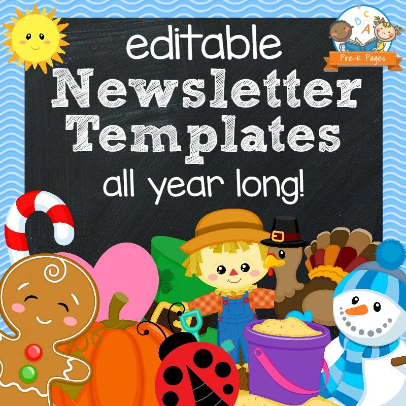 Preschool Weekly Newsletter Templates