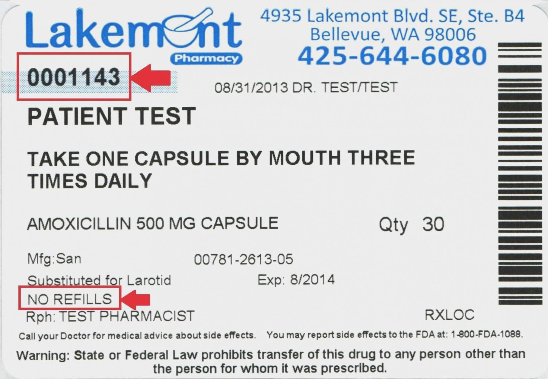 Prescription Drug Label Template