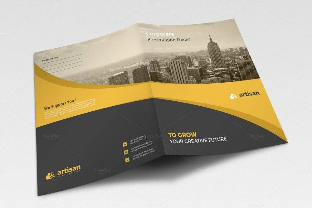 Presentation Folder Template Cdr