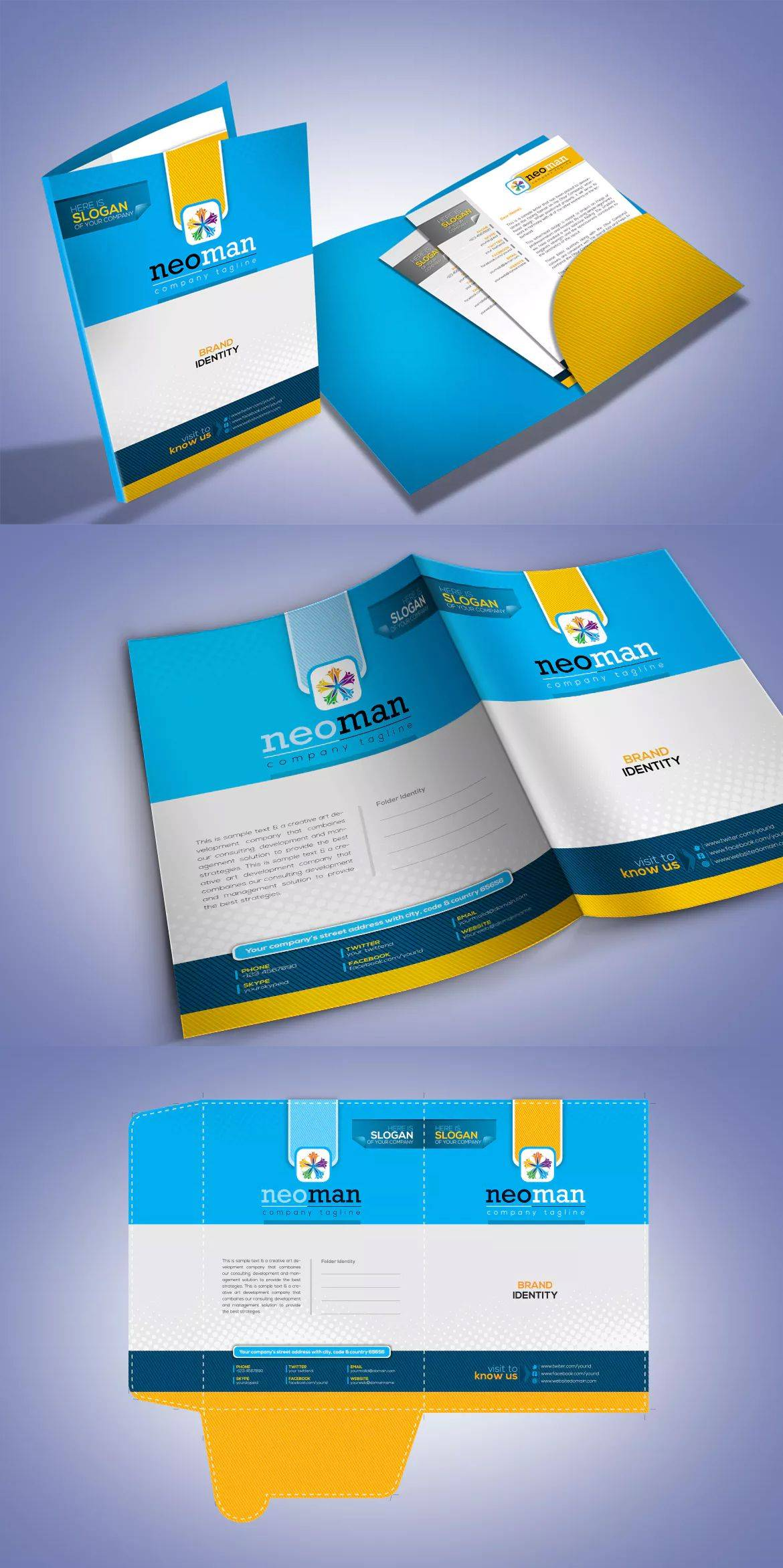 Presentation Folder Template Eps