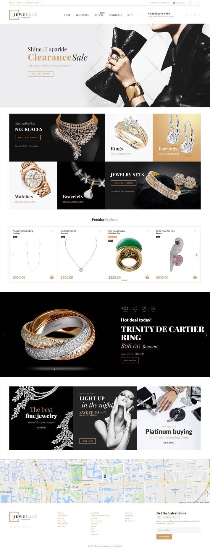 Prestashop Templates Jewelry