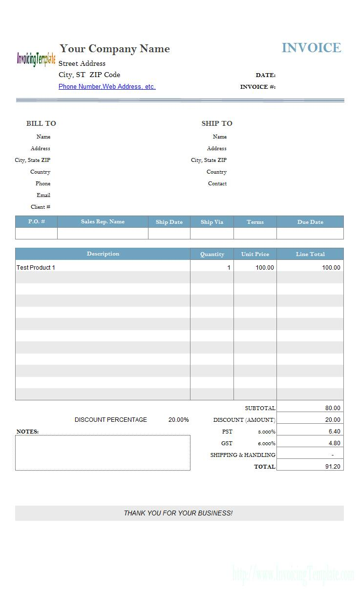 Price Quotation Template Word Free Download