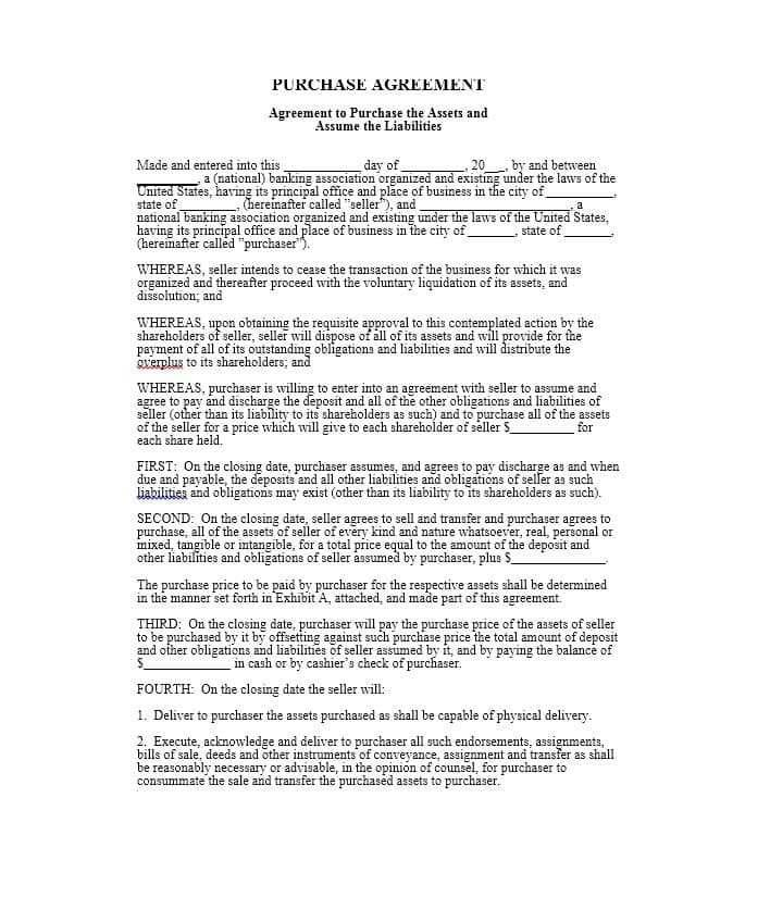 Pricing Agreement Template