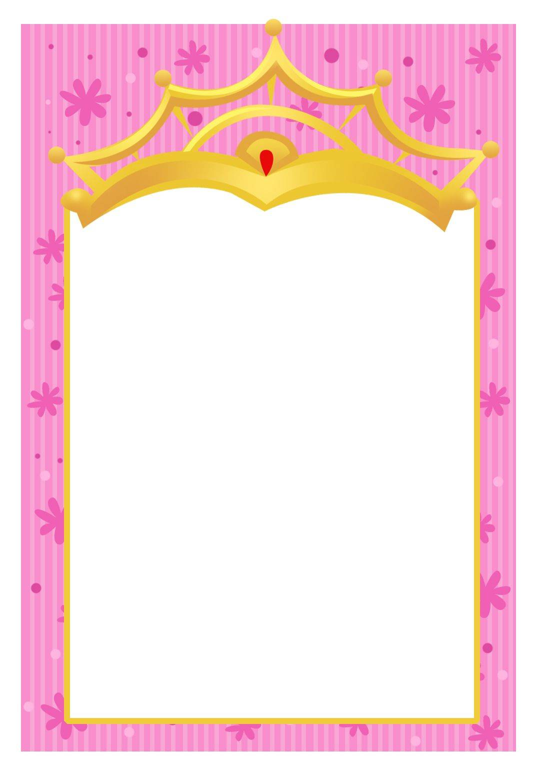 Princess Invitation Template Printable
