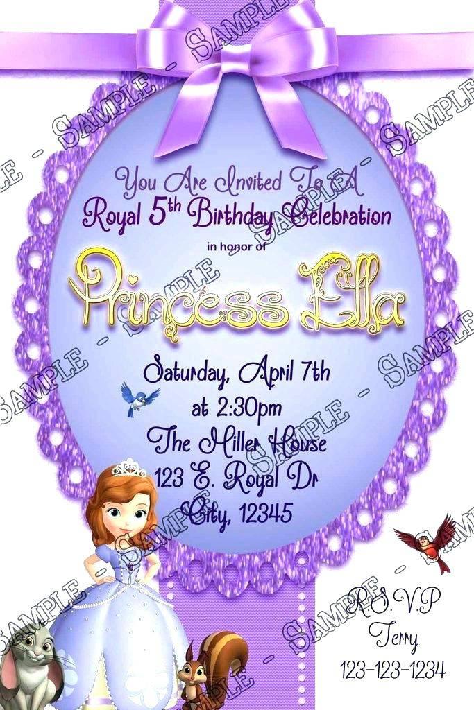 Princess Sofia Birthday Invitation Templates