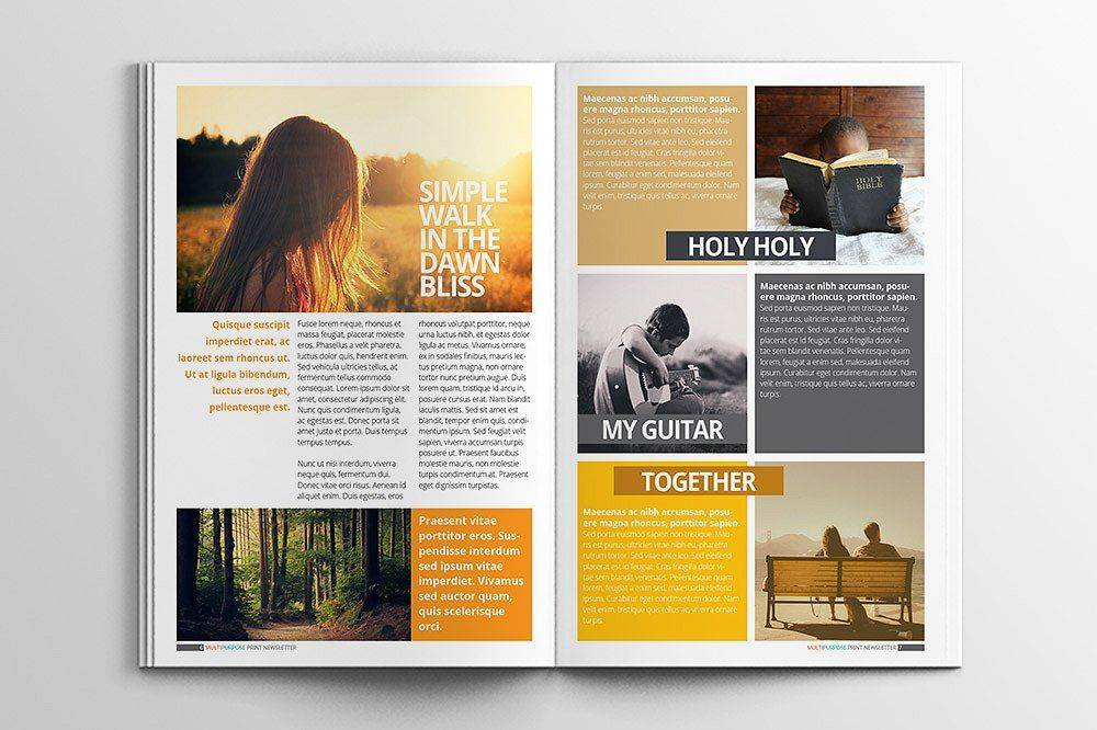 Print Newsletter Templates Indesign
