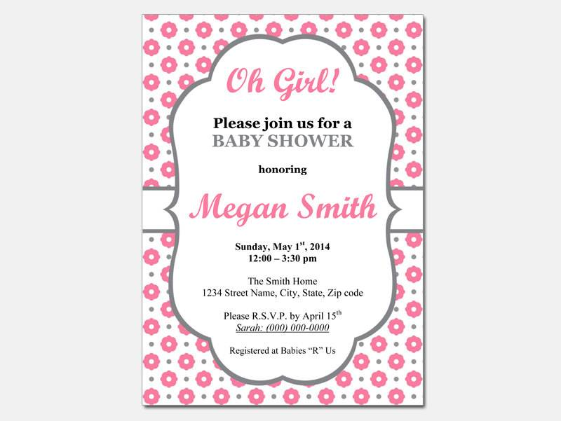 Printable Baby Shower Invitation Templates For A Girl