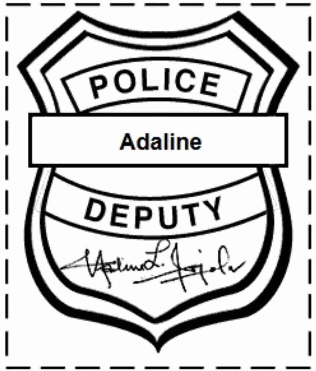 Printable Badge Template