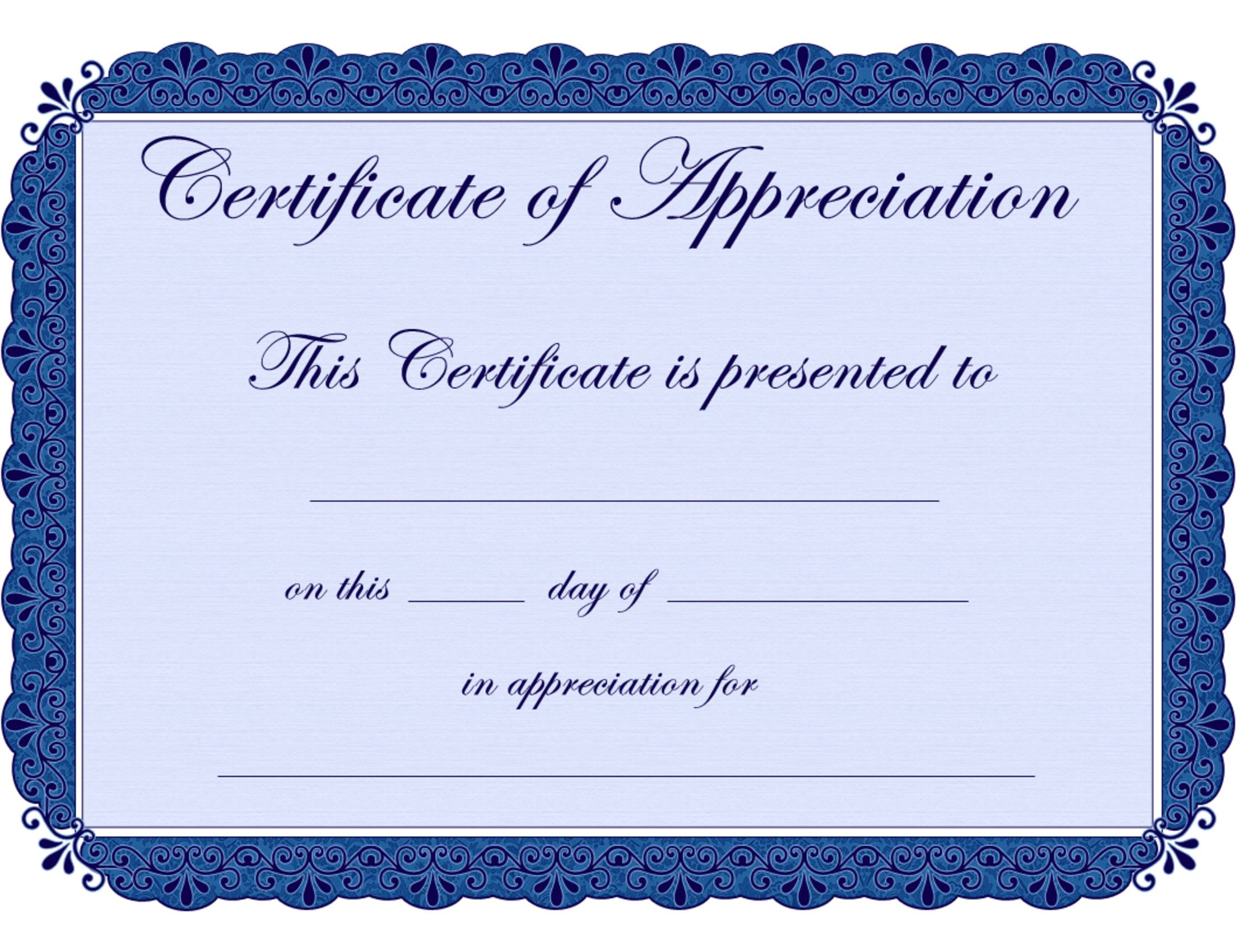 Printable Certificate Of Recognition Templates