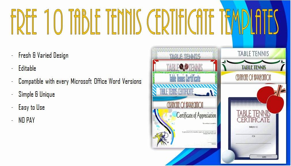 Printable Certificates Of Participation Templates