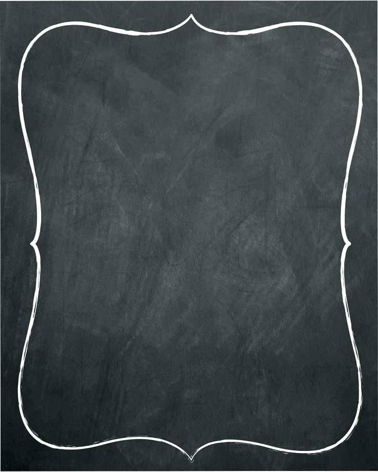 Printable Chalkboard Template Free