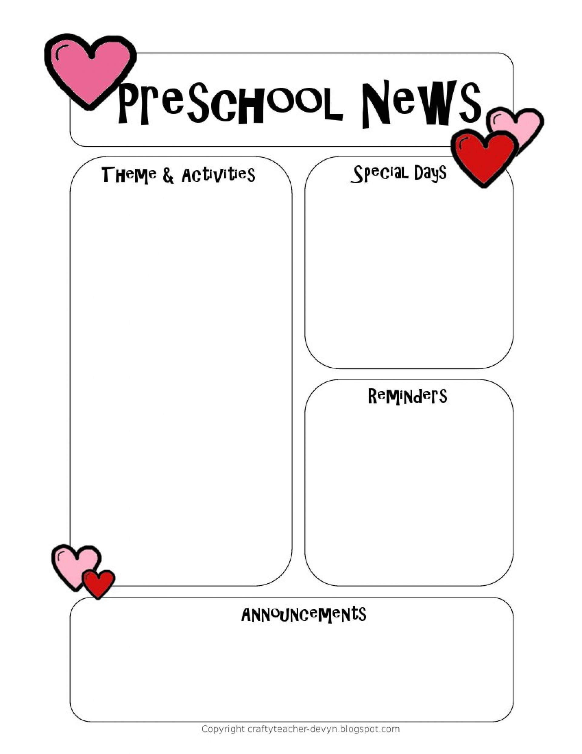 Printable Classroom Newsletter Templates